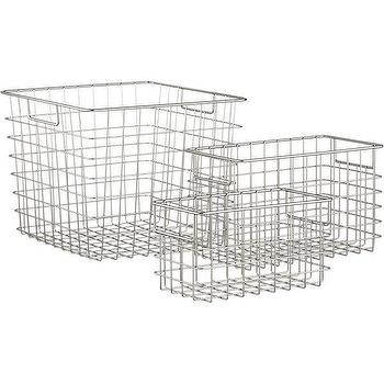 Wire Baskets, Crate and Barrel