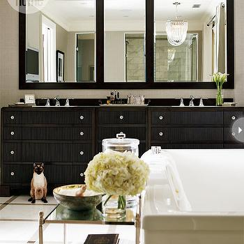 Ebony Double Vanity, Transitional, bathroom, Style at Home