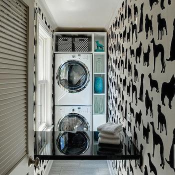 Dog Wallpaper, Eclectic, laundry room, Space Architects & Planners