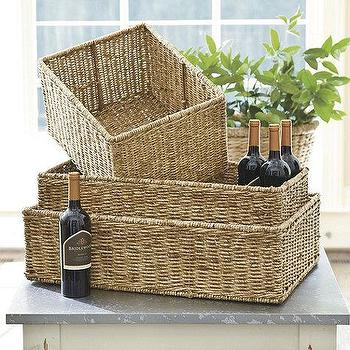 Decor/Accessories - Woven Baskets | Ballard Designs - woven baskets, woven storage basket, storage basket,