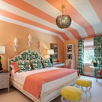 Pink and Green Bedroom, Hollywood Regency, bedroom, Tobi Fairley