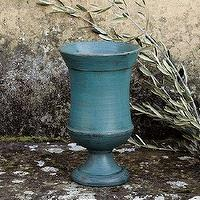 Decor/Accessories - Leona Vase | Ballard Designs - blue vase, teal vase, teal plant pot, teal pot, blue plant pot, teal garden decor,