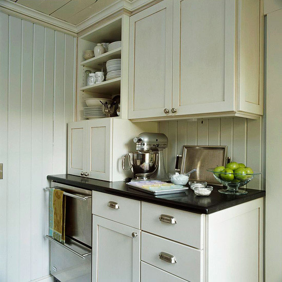 Cream Kitchen Cabinets - Cottage - kitchen - BHG