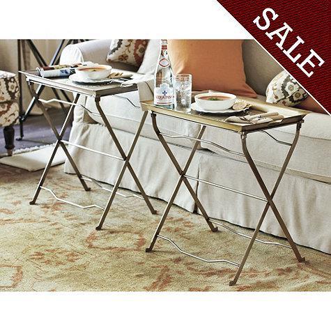 Set Of 2 Cafe Tray Table Ballard Designs