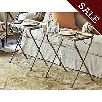 Tables - Set of 2 Cafe Tray Table | Ballard Designs - lift-off tray table, tray table, iron tray table,