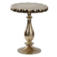 Tables - Z Gallerie - Francois Table - Gold - metallic gold table, gold accent table, gold pedetal table,