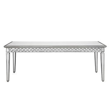 Dining table z gallerie mirrored dining table for Z gallerie dining room table