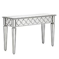 Tables - Z Gallerie - Sophie Mirrored Console Table - mirrored console table, console table, modern mirrored console table,