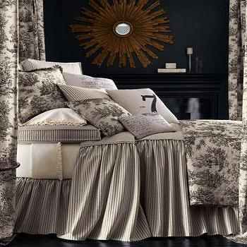 Bedding - Sydney Bed Linens - Neiman Marcus - toile bedding, french country bedding, ivory and taupe toile bedding,