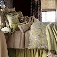 Bedding - Spring Garden Bed Linens - Neiman Marcus - french style bedding, french toile bedding, feedsack bedding, toile bedding, brown and citrine bedding,