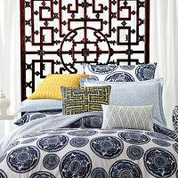Bedding - Bombay Bed Linens - Neiman Marcus - blue medallion bedding, blue medallion bed linens, indigo blue and white bedding, indigo blue medallion bedding,