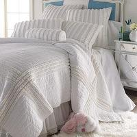 Bedding - Daydream Bed Linens - Neiman Marcus - white ruffled bedding, white bed linens, white ruffled bed linens, ruffled bedding,