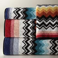 Decor/Accessories - Niles Towels - Neiman Marcus - missoni towels, zigzag towels, graphic bath towels, zigzag bath towels,