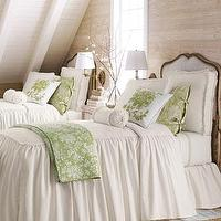 Bedding - Hampton Linens - Neiman Marcus - twill bedspreads, twill bedding, ruffled dust skirts, twill bed linens,
