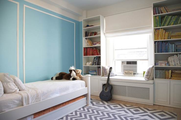 Turquoise Walls Contemporary Girl S Room Benjamin