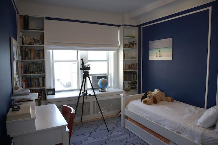 Navy Walls Contemporary Boy S Room Benjamin Moore