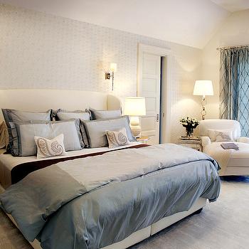 Wingback Headboard, Transitional, bedroom, Elsa Soyars