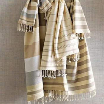 Decor/Accessories - Fouta Towels - Neiman Marcus - fouta towels, fringed fouta towels, striped towels, striped fringe towels,