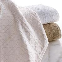 Decor/Accessories - Marcus Collection Cane Bath Towels - Neiman Marcus - cane bath towels, cotton jacquard bath towels, white, ivory, linen,