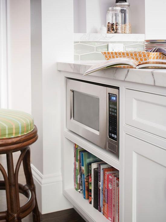 Kitchen Peninsula Microwave Nook Cottage Kitchen Bhg