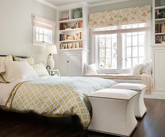 Bedroom window seat traditional bedroom bhg for Bedroom window seat designs