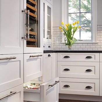 Incredible And Functional Dream Kitchen With Pale Gray Walls And White