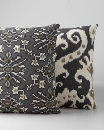 Throw Pillows Neutral : Ikat-Style Accent Pillows - Neiman Marcus