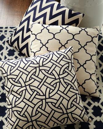 Navy And Ivory Pillows Amp Rug Neiman Marcus