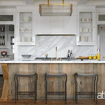 Salvaged Wood Kitchen Island, Contemporary, kitchen, At Home in Fairfield County
