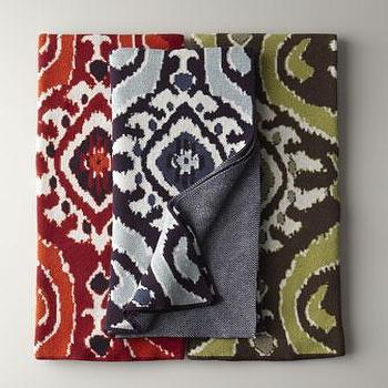 Decor/Accessories - Ikat Throw - Neiman Marcus - purple ikat throw, red ikat throw, green ikat throw,