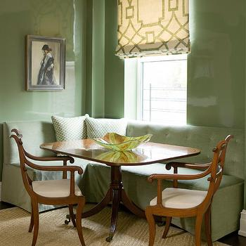 Tufted Banquette, Transitional, dining room, Phoebe Howard
