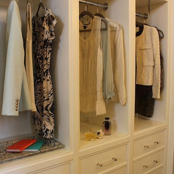 Acrylic Drawer Pulls, Contemporary, closet, Material Girls