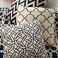 Pillows - Navy and Ivory Pillows & Rug - Neiman Marcus - navy and ivory geometric pillows, navy and ivory zigzag pillow,