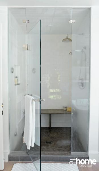 Seamless Glass Shower Contemporary Bathroom At Home In Fairfield County