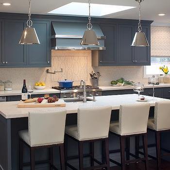 Blue Kitchen Cabinets, Contemporary, kitchen, Artistic Designs for Living