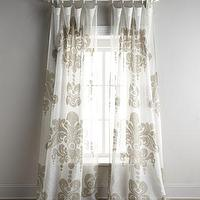 Window Treatments - Enchantique Curtains - Neiman Marcus - ivory linen curtains, ivory linen drapes, linen drapes with graphic print,