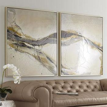 Art/Wall Decor - 'Ascent' Wall Art - Neiman Marcus - gray gold and ivory abstract art, neutral toned abstract art, textural wall art,