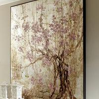 Art/Wall Decor - 'Plum Blossom' Painting - Neiman Marcus - blossom painting, pink and gold art, blossom tree wall art,