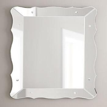 Mirrors - Mirror-Framed Scalloped Mirror - Neiman Marcus - scalloped mirror, mirror framed mirror, mirror-framed scalloped mirror,