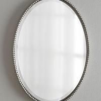Mirrors - 'Sherise' Oval Mirror - Neiman Marcus - oval mirror, oval beaded mirror, oval mirror with beaded frame,