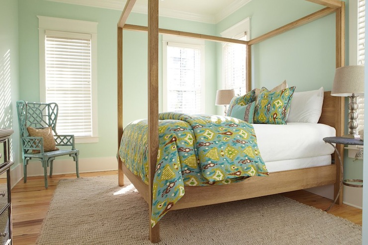 Ikat Duvet Cottage Bedroom Interior Philosophy