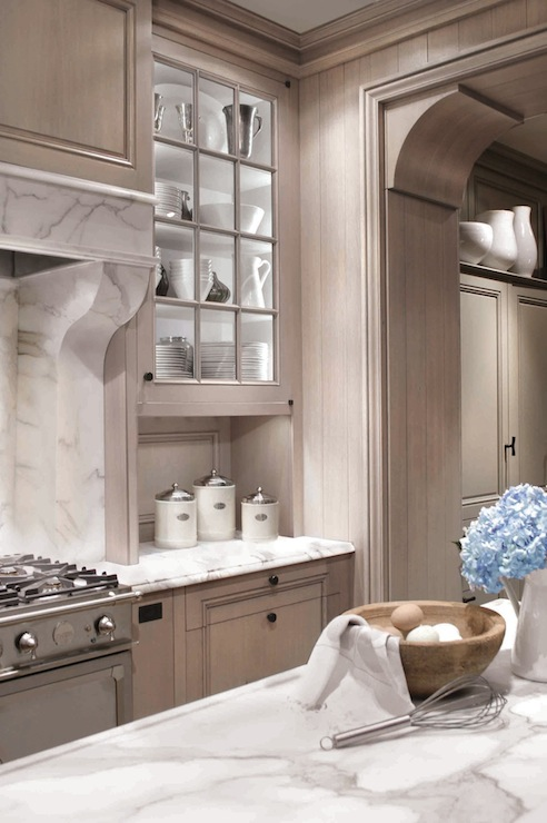 Ash Gray Kitchen Cabinets - Transitional - kitchen ...