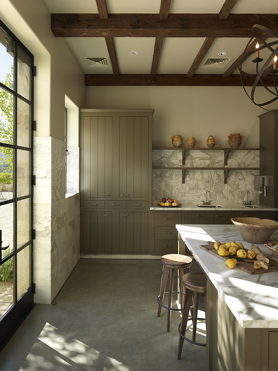 Taupe Kitchen Cabinets  Contemporary  kitchen  Taylor Lombardo