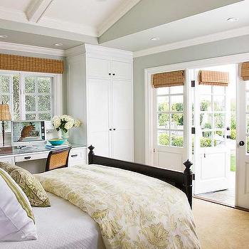 Bedroom Vaulted Ceiling, Cottage, bedroom, BHG