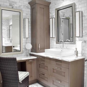 Brown Painted Cabinets, Transitional, bathroom, Design Galleria