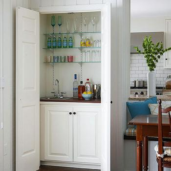 Hidden Wet Bar, Contemporary, dining room, BHG