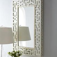 Mirrors - Capiz Fretwork Mirror - Neiman Marcus - capiz mirror, capiz fretwork mirror, fretwork mirror, capiz shell mirror,