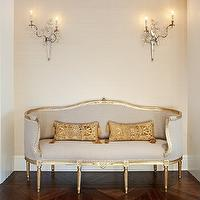 French Settee Eclectic Living Room Benjamin Dhong