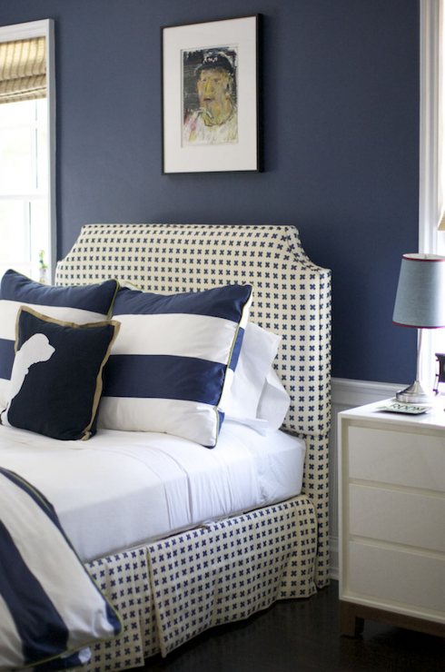 gallery for dark blue bedroom walls