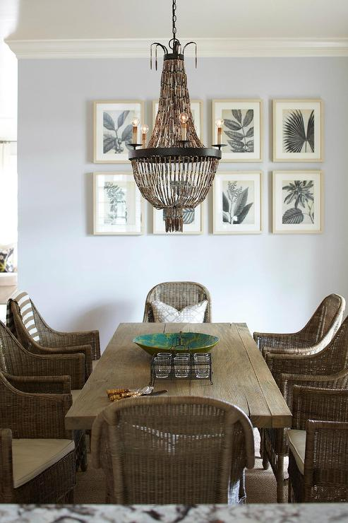 Beaded Chandelier - Cottage - dining room - Interior Philosophy
